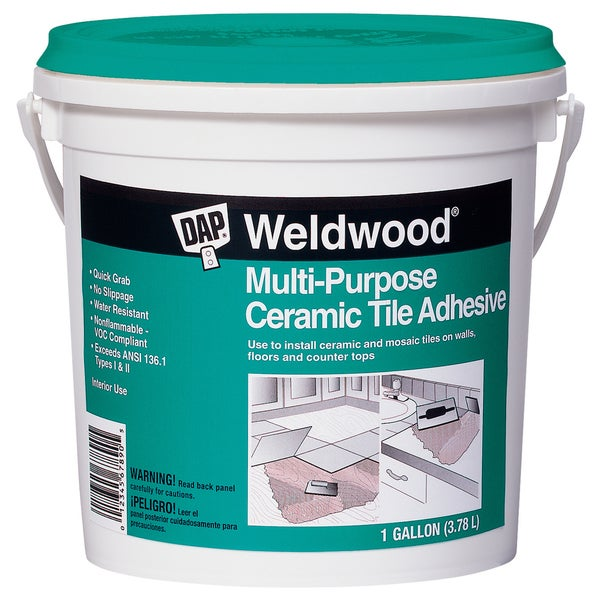 Dap 25192 1 Gallon Weldwood Multipurpose Ceramic Tile Adhesive