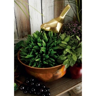 Copper-finish Iron 11-inch/14-inch/18-inch/22-inch Planters (Pack of 4)