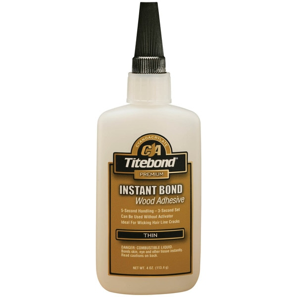 Titebond 6202 4 Oz Titebond Thin Instant Bond Wood Adhesive