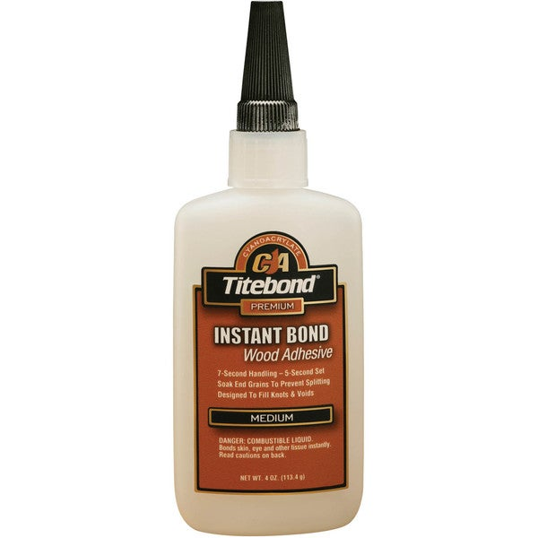Titebond 6212 4 Oz Titebond Medium Instant Bond Wood Adhesive