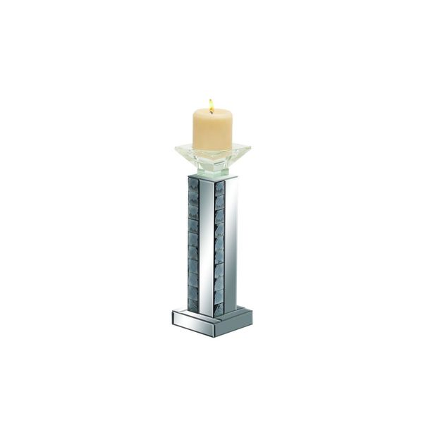 Faceted Square Column Candle Holder 19541896