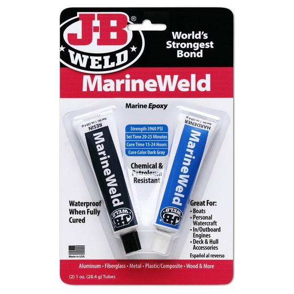 JB Weld 8272 2 Oz Dark Grey Marine Weld Epoxy