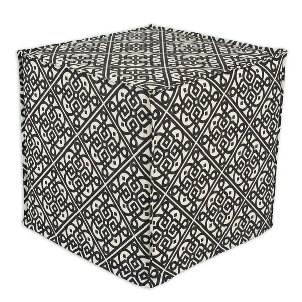 Lace it is Ebony Square Seamed Foam Ottoman