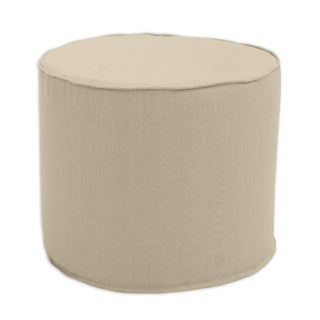 Jefferson Driftwood Round Corded Foam Ottoman