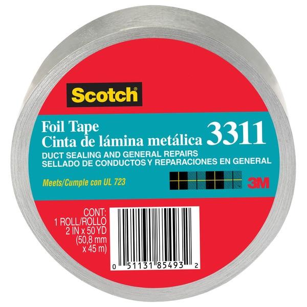 """3M 3311-50A 2"""" X 50 Yards Scotch Aluminum Foil Tape"""