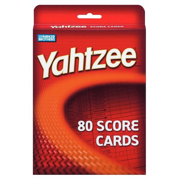 Yahtzee Yahtzee Score Cards