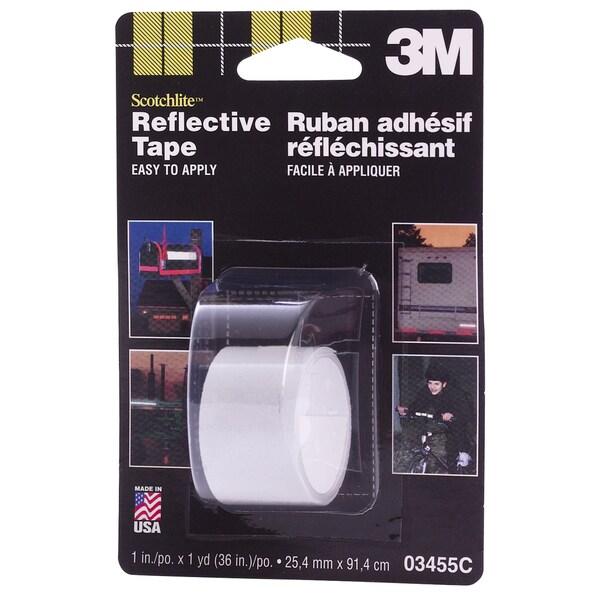 """3M 03455 1"""" X 36"""" White Scotchlite Reflective Tape"""