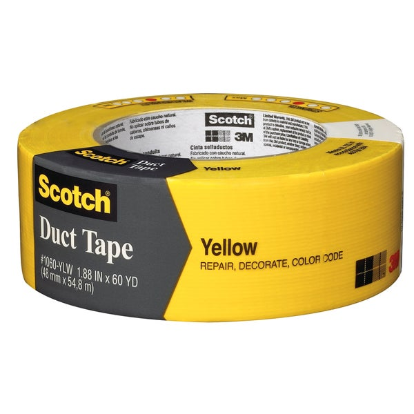 "3M 1060-YLW-A 1.88"" X 60 Yards Yellow Scotch Duct Tape"