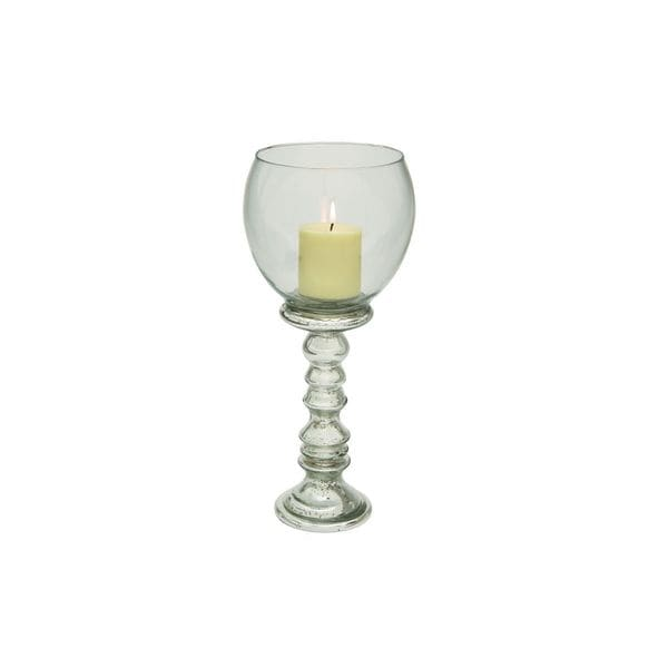 Silver Colored Glass Candle Holder 19542642