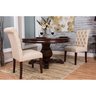 Somette Beige Tufted Dining Chair Set (Set of 2)