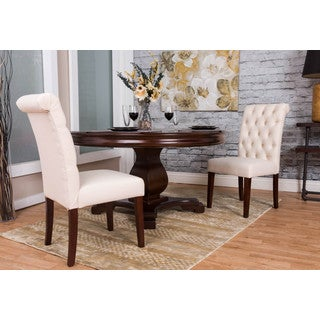Somette Ivory Tufted Dining Chair Set (Set of 2)