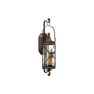 Metal, Glass 30-inch High x 10-inch Wide Candle Sconce