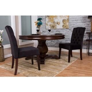 Somette Dark Blue Microfiber Dining Chair Set (Set of 2)