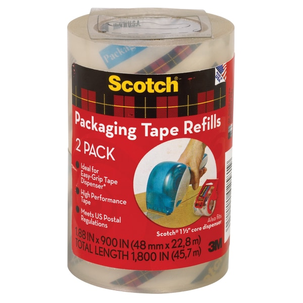 3M DP-1000-RR-2 Refill Packing Tape For 3M DP-1000 Rolls 2-count
