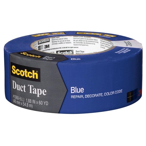 """3M 1060-BLU-A 1.88"""" X 60 Yards Blue Scotch Duct Tape"""