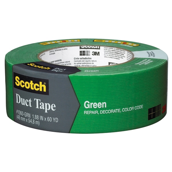 "3M 1060-GRN-A 1.88"" X 60 Yards Green Scotch Duct Tape"