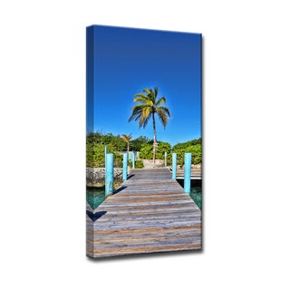 Ready2HangArt 'Rustic Palm Pier' by Christopher Doherty