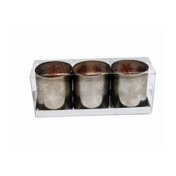 Copper Iron Votive Candle Holders Box Set (Set of 3)