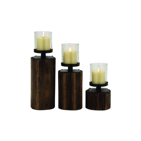WD GLS MTL Candle Holder