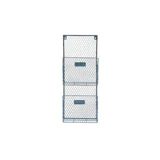 Metal Wire 10-inch x 27-inch Wall Basket