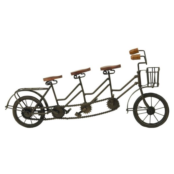 Rustic Iron Tri-seat Bicycle Replica