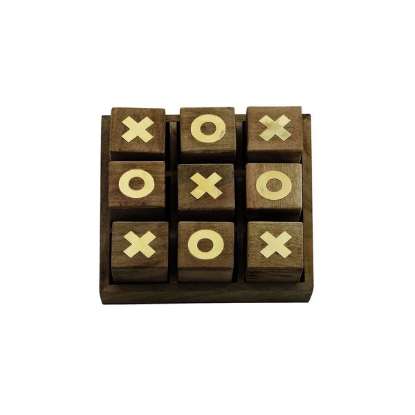 Decorative Wood Tic Tac Toe Box
