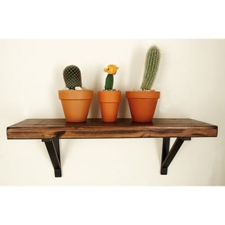 Wood and Metal Wall Shelves (Set of 3)