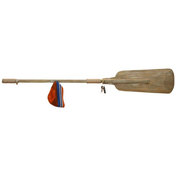 Brown Wood Oar with Hook (56-inch x 8-inch)