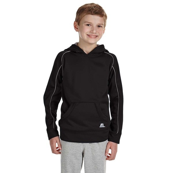 Tech Youth Black/Grey Fleece Pullover Hoodie 19544103