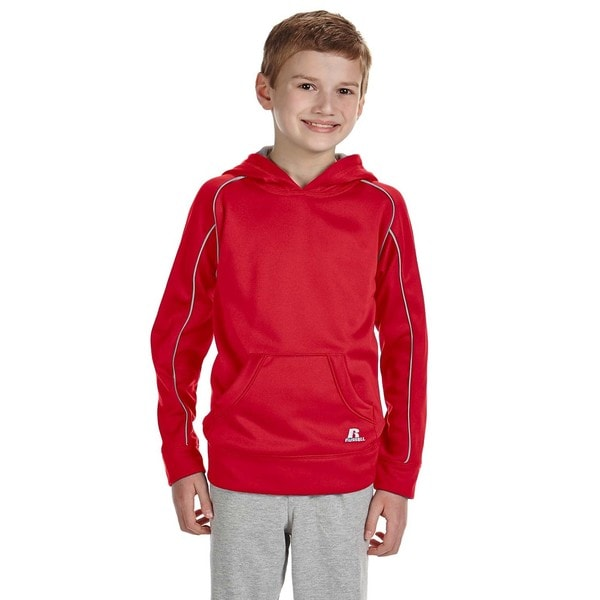 Tech Youth Red Fleece Pullover Hoodie 19544106