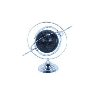 Modern Reflections Aluminum 17-inch World Globe and Decorative Armillary Sphere