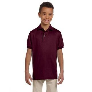Spotshield Boys' Maroon Jersey Polo
