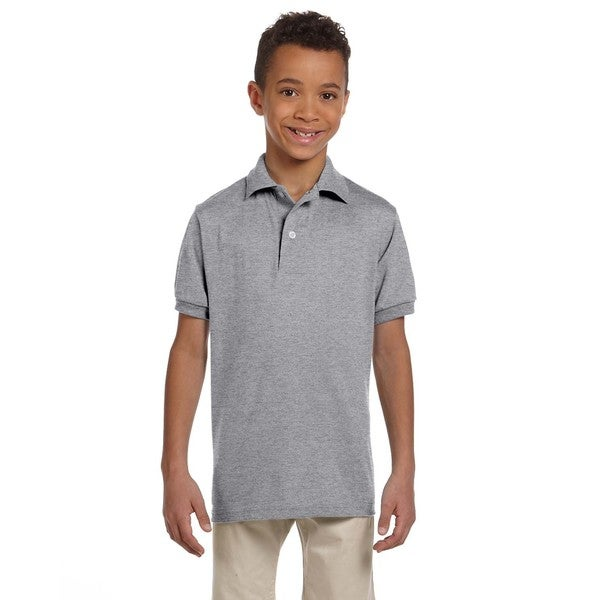 Spotshield Boys' Jersey Polo Oxford