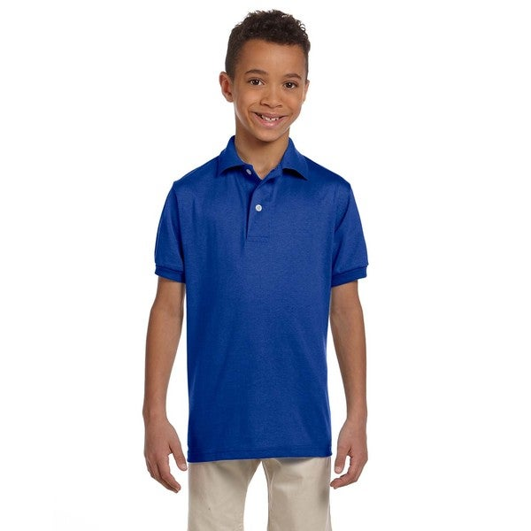 Spotshield Boy's Royal Blue Cotton/Polyester Jersey Polo Royal