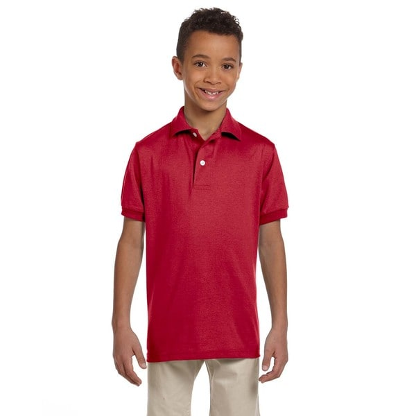 Spotshield Boys' True Red Jersey Polo