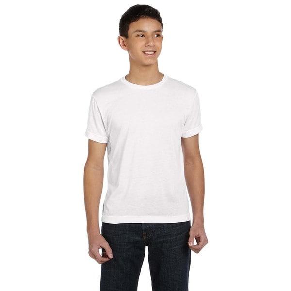 Sublivie Boys' Polyester T-Shirt White 19544191