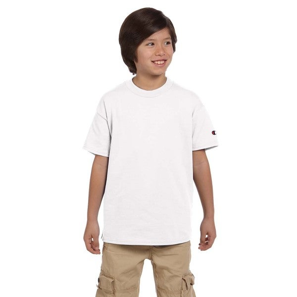 Youth White Jersey T-shirt