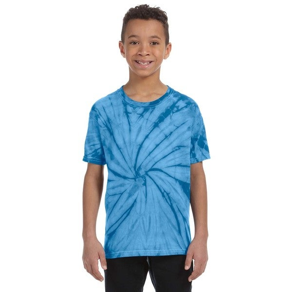 Boys' Spider Turquoise Tie-dyed T-shirt
