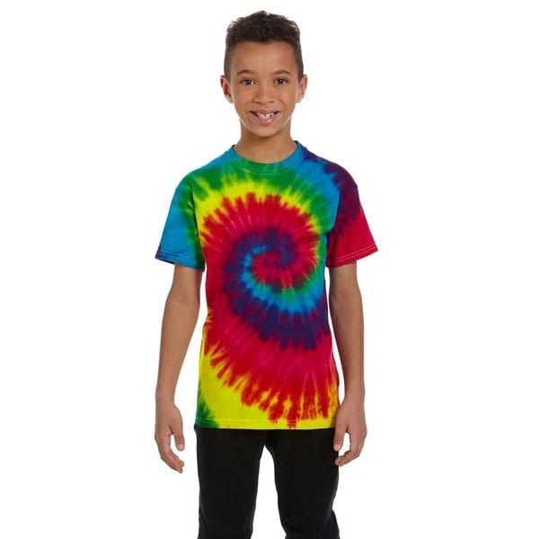 Tie-Dye Boys' Reactive Rainbow Tie-Dyed T-Shirt