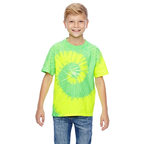 Tie-Dye Boys' Flo Yellow With Lime Tie-Dyed T-Shirt