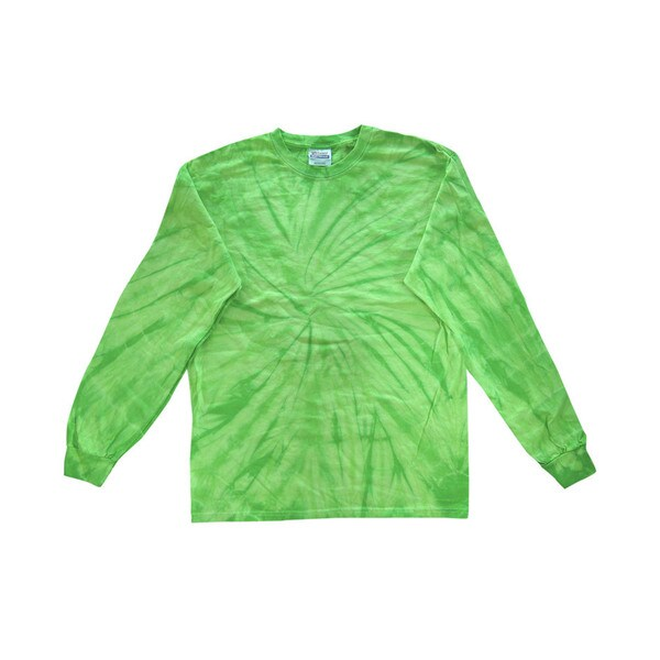 Boy's Lime Spider Tie-Dyed Long-Sleeve T-Shirt