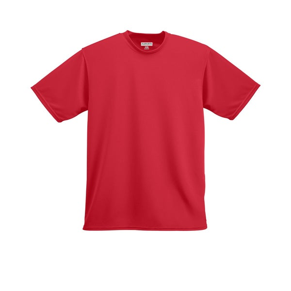 Boys' Red Polyester Wicking T-shirt