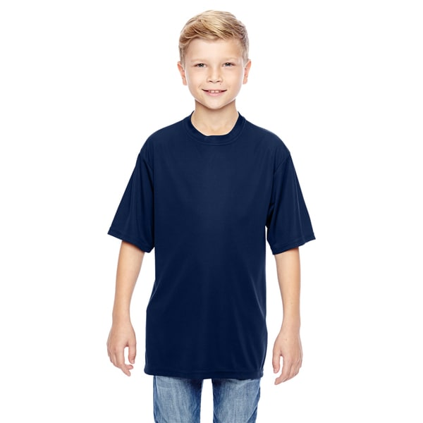 Boys' Navy Polyester Wicking T-shirt