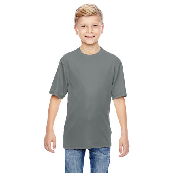 Boys' Graphite Polyester Wicking T-shirt