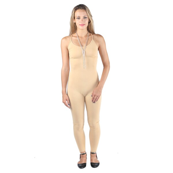 Hadari Woman's Beige fitted jumpsuit