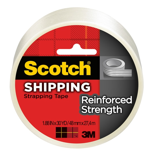 "3M 8950-30 1.88"" X 90"" Clear White Scotch Strapping Tape"