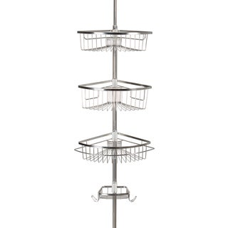 Stainless Steel Rivercrest Tension Pole 3-shelf Shower Caddy