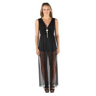 Hadari Woman's Black Sheer Dress