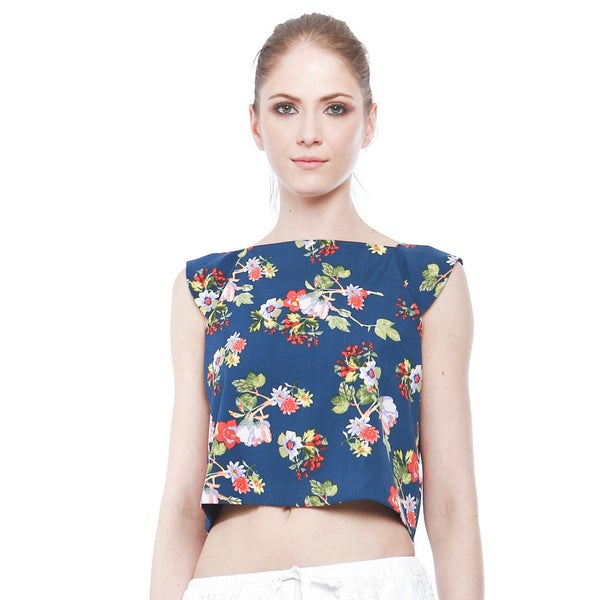 Walter Baker Women's Floral Printed Stella Cropped Top