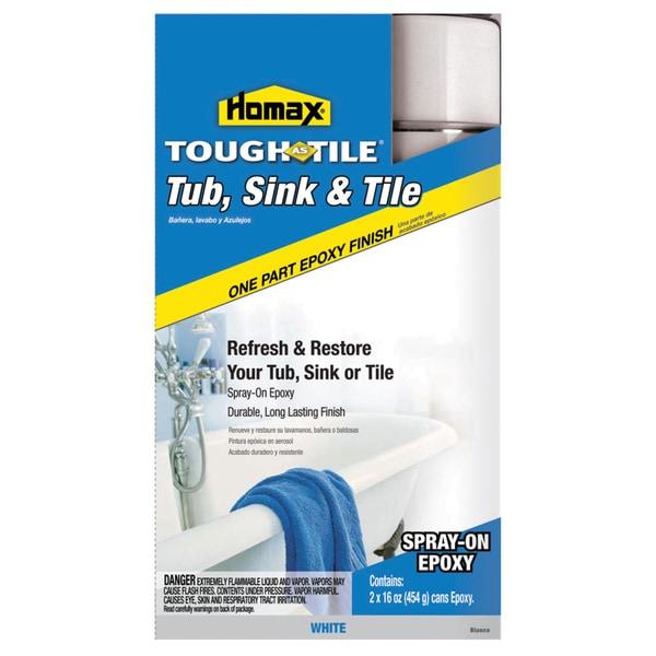 Homax 720771 32 Oz White Spray On Tub & Sink One Part Epoxy